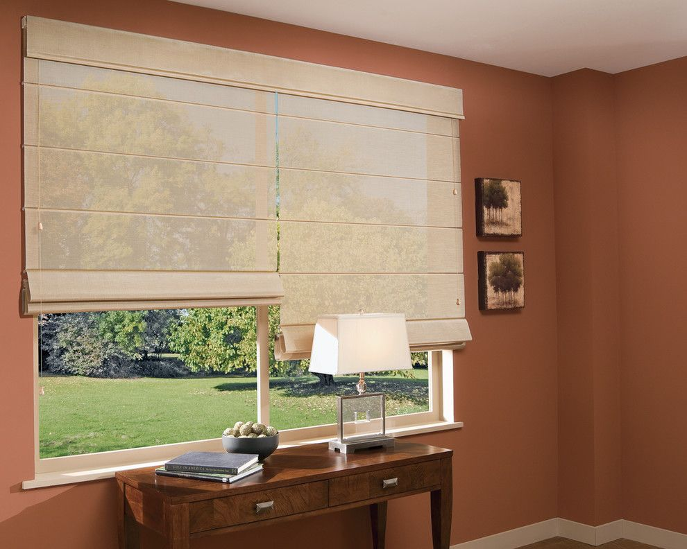 Wausau Windows for a Contemporary Spaces with a Office Window Treatments and Home Office Ideas by Accent Window Fashions Llc