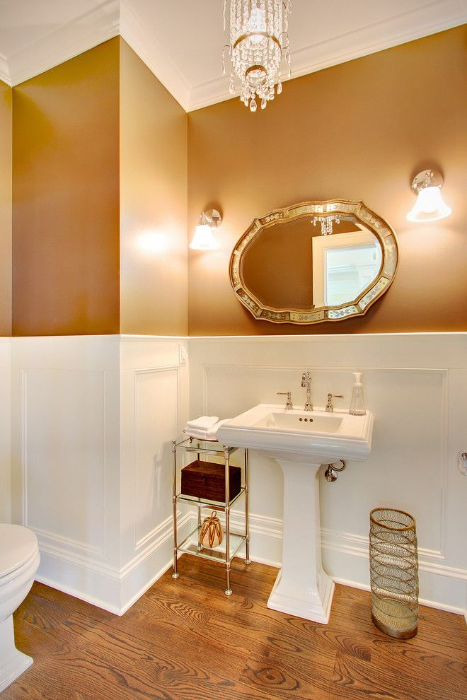 Waynes Coating for a Traditional Bathroom with a Sconce and Kirkland Tanditional by Rw Anderson Homes