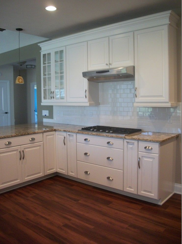 Waypoint Cabinets for a Traditional Kitchen with a Black Cabinets and Kitchen New Construction, Wadsworth, Oh #1 by Cabinet S Top