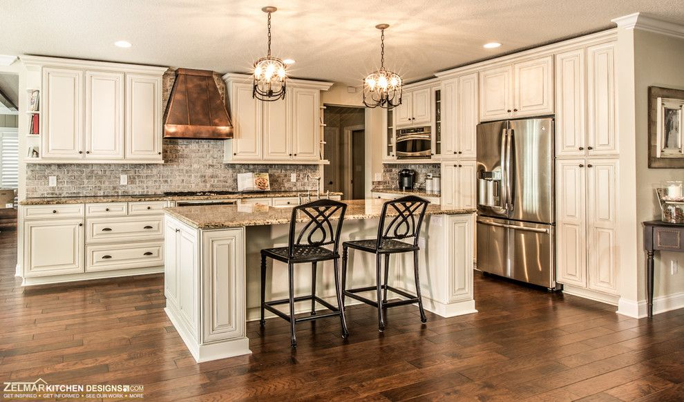 Waypoint Cabinets for a Traditional Kitchen with a Dream Kitchen and Crofoot C (Waypoint) Zelmar Kitchen Remodel by Zelmar Kitchen Designs & More, Llc