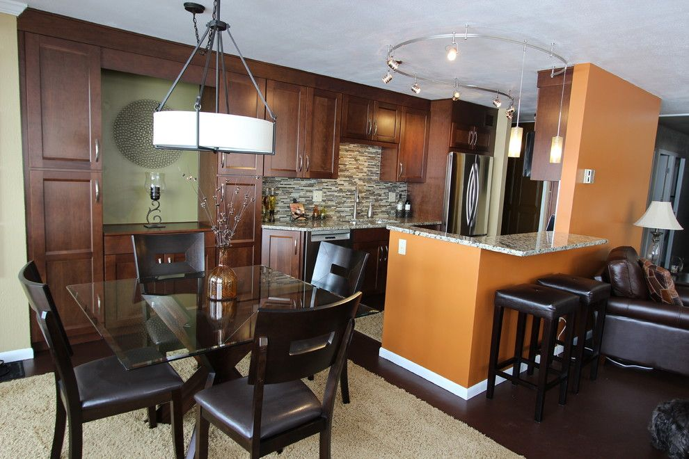Waypoint Cabinets for a Transitional Kitchen with a Glass Tile and Kitchen Renovation, Lakewood, Ohio #1 ~ Waypoint Cabinetry by Cabinet S Top