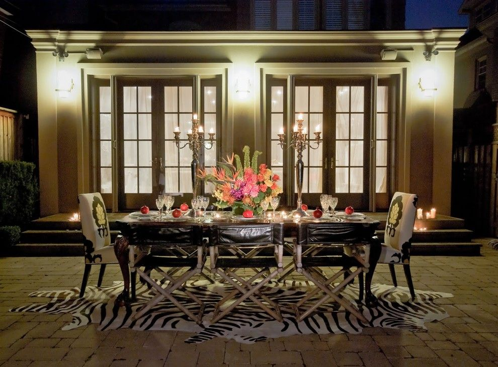 Wayside Furniture for a Contemporary Patio with a Table Setting and Outdoor Glam by Lucid Interior Design Inc.