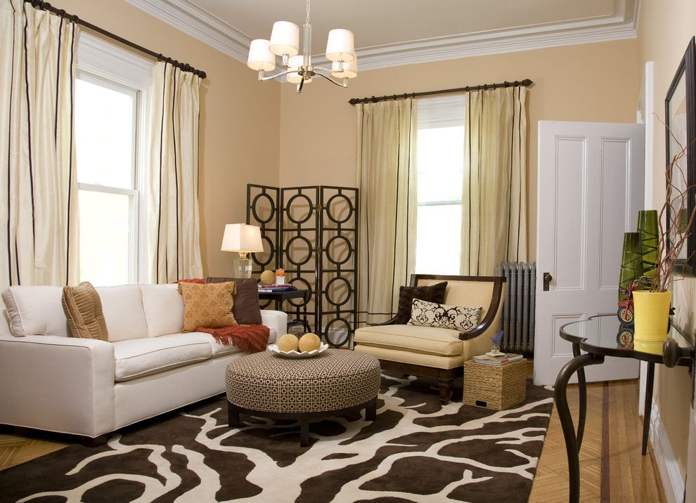Wayside Furniture for a Transitional Living Room with a Parquet Flooring and South Boston Living Room by Jace Interiors & CreateGirl Blog