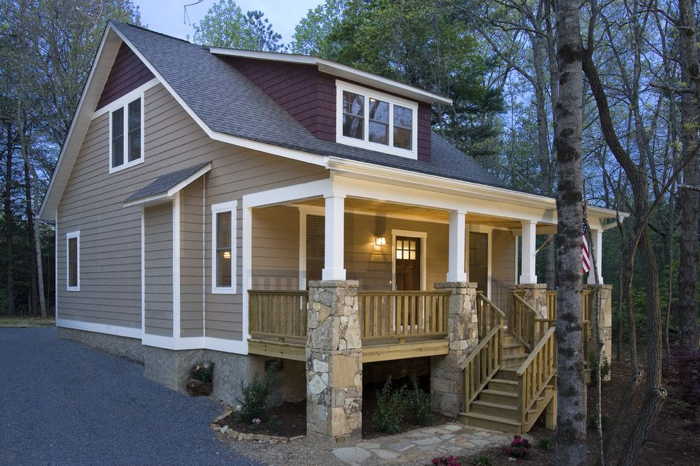 Weathered Wood Shingles for a Craftsman Exterior with a Cottage and Brookstone Builders by Brookstone Builders