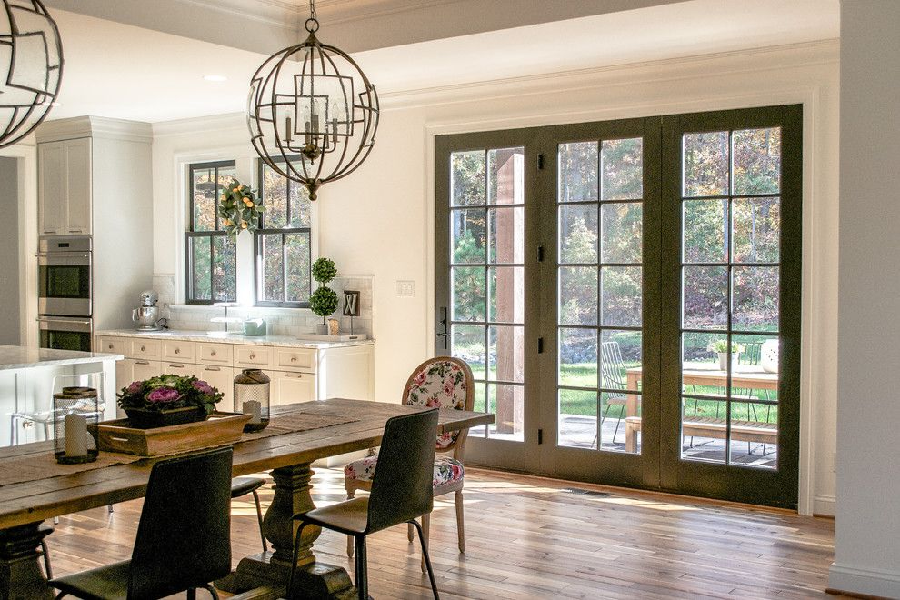 Weathershield Windows for a  Spaces with a White Kitchen and Bedwyn Kitchen by Jtwdesign Llc