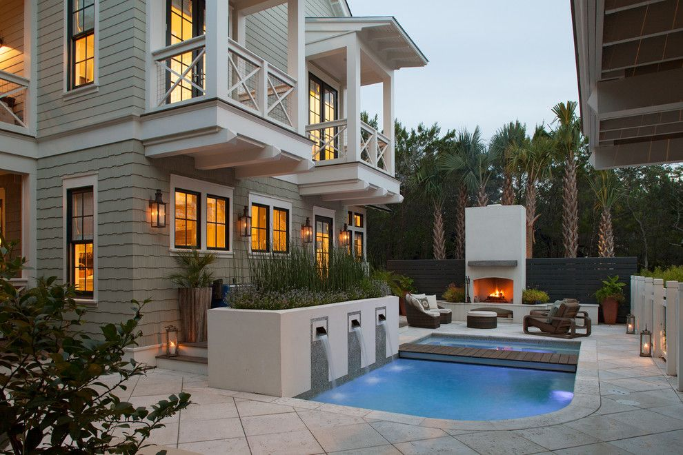 Weathershield Windows for a Traditional Pool with a Balcony and Crouch Residence by Geoff Chick & Associates