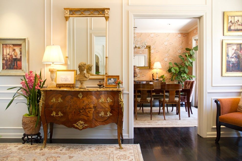 Wesley Hall Furniture for a Traditional Entry with a Gold and Charmean Neithart Interiors, Llc. by Charmean Neithart Interiors, Llc.