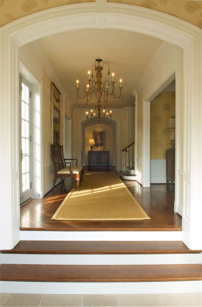 Wesley Hall Furniture for a Traditional Hall with a Gold and Entry Hall by Rwa Architects