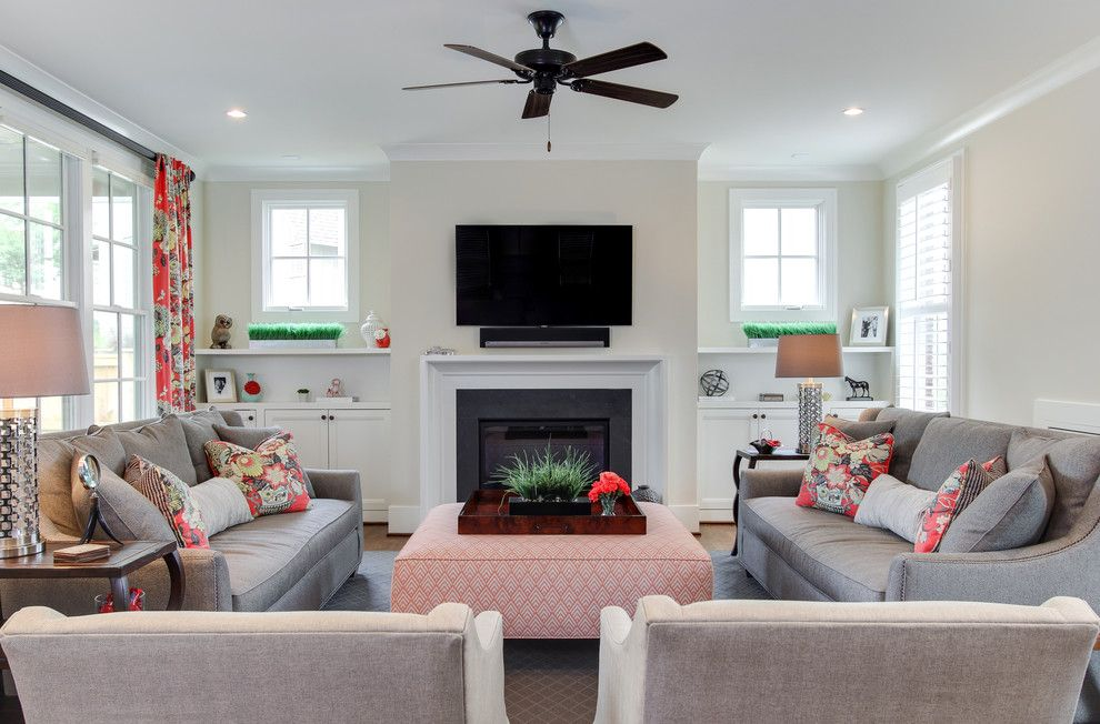 Wesley Hall Furniture for a Traditional Living Room with a Custom and Miller Residence by Otrada Llc