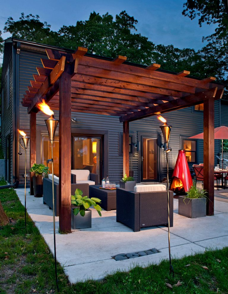 Western Heritage Furniture for a Contemporary Patio with a Wood Beam and Portfolio by Edmunds Studios Photography, Inc.