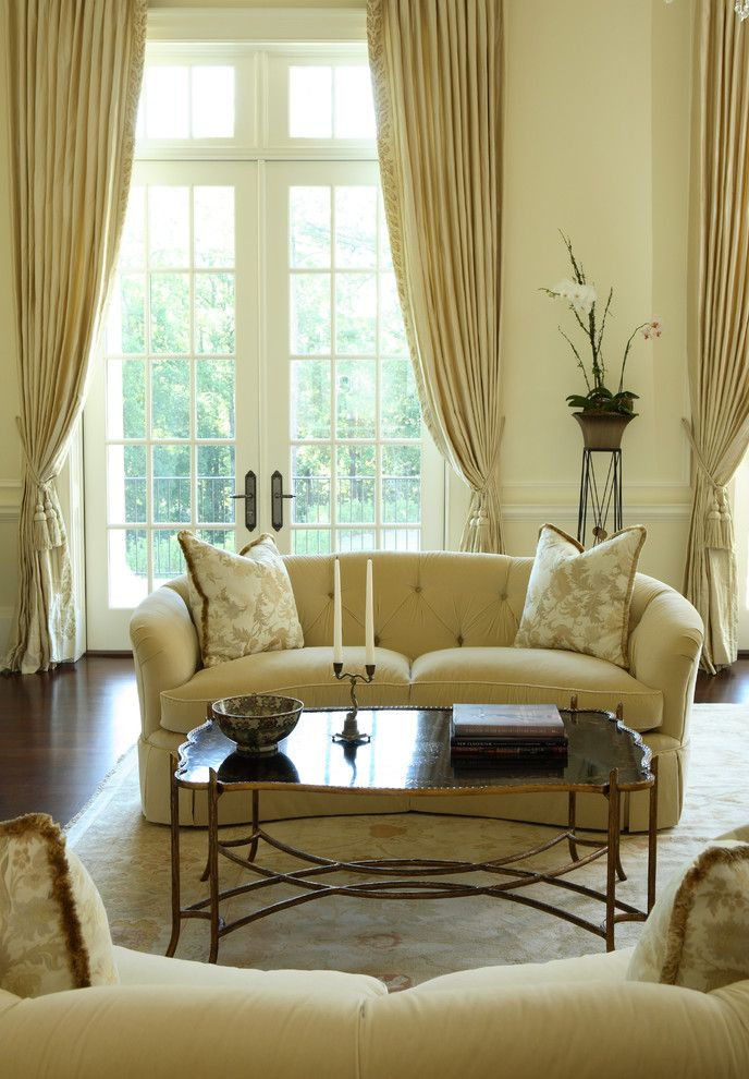 Western Heritage Furniture for a Traditional Living Room with a Brass Coffee Table and Buckhead by Dillard Pierce Design Associates