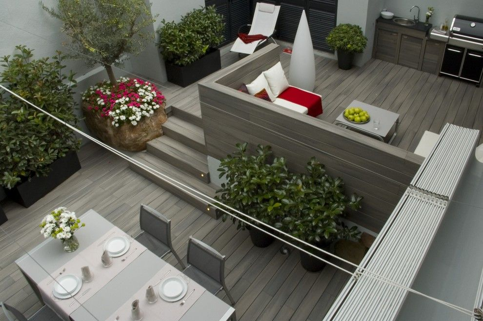 Westfield Lighting for a Contemporary Deck with a Contemporary and Fiberon Decking by Fiberon Decking