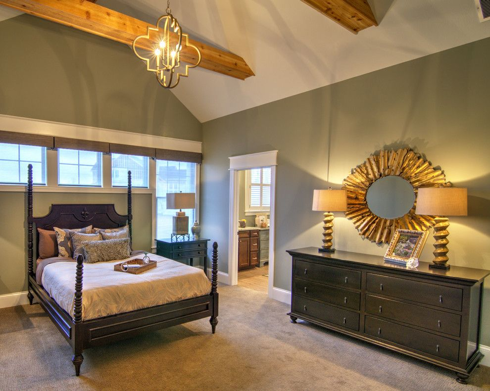 "Westfield Lighting for a Transitional Bedroom with a Rare Gray and Craftsman ""Retreat"" by Everything Home"