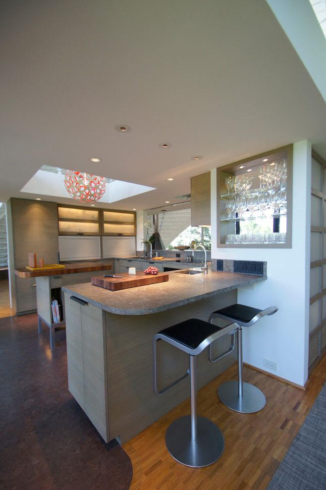 Westlake Residential for a Modern Kitchen with a Open Shelving and Westlake Kitchen Remodel by Meier Residential