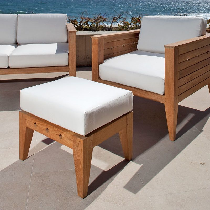 Westminster Teak for a Transitional Patio with a Teak Furniture and Craftsman Teak Ottoman by Westminster Teak