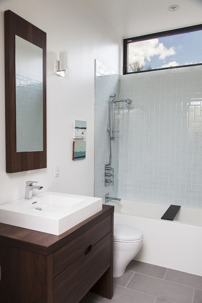 Wetstyle for a Contemporary Bathroom with a Contemporary and Bathrooms by Wetstyle