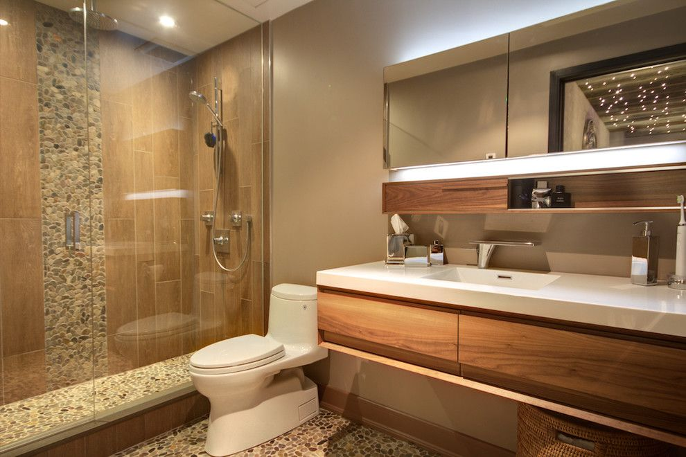 Wetstyle for a Modern Bathroom with a Shower Enclosure and Niagara by Avalon Interiors