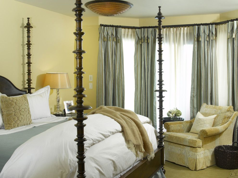 What Color is Chartreuse for a Traditional Bedroom with a Carved Wood and Vail Chalets by Slifer Designs