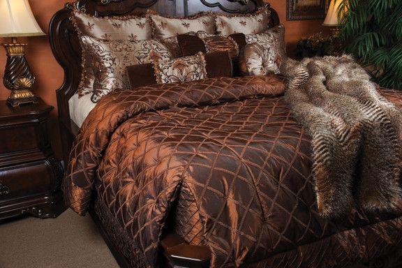 What is a Coverlet for a Mediterranean Bedroom with a Bedding and Highborn Coverlet Set by K&r Interiors