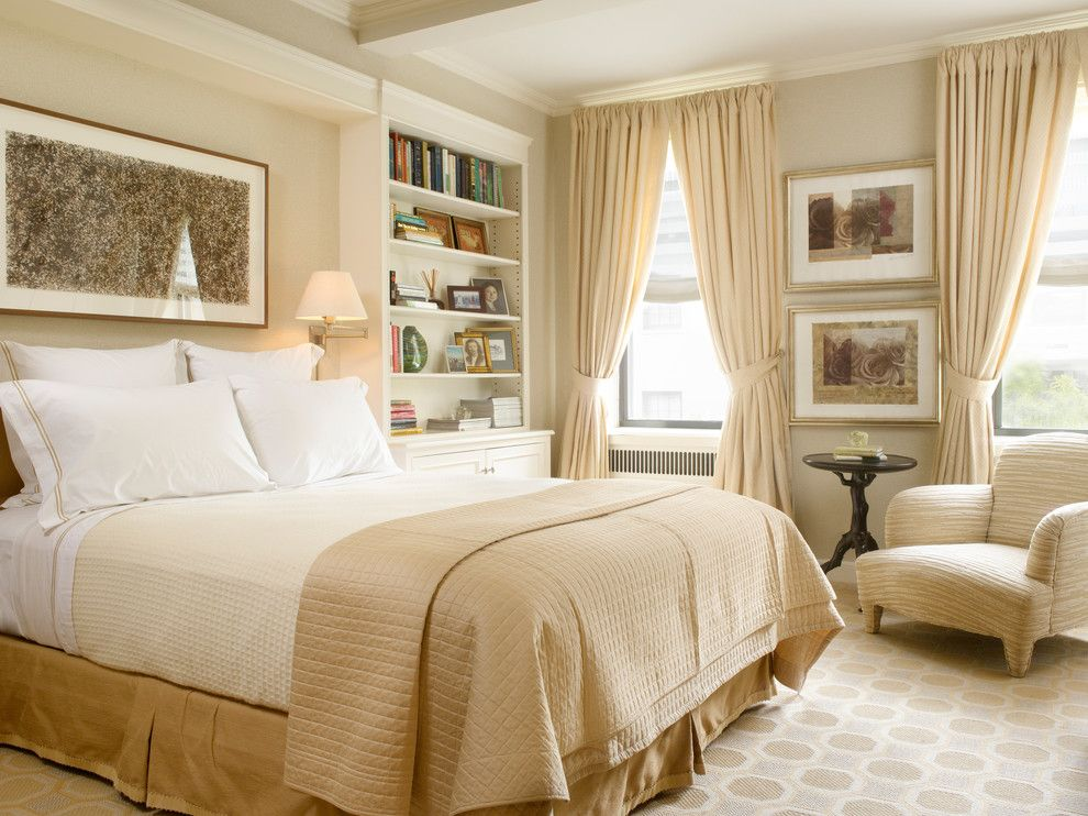 What is a Coverlet for a Traditional Bedroom with a Contemporary Design and Art Deco New York Apartment Photos by Gridley + Graves by Gridley + Graves Photographers