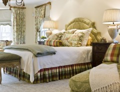 What is a Coverlet for a Traditional Bedroom with a Cream and Bedroom by Kirsten Nease Designs