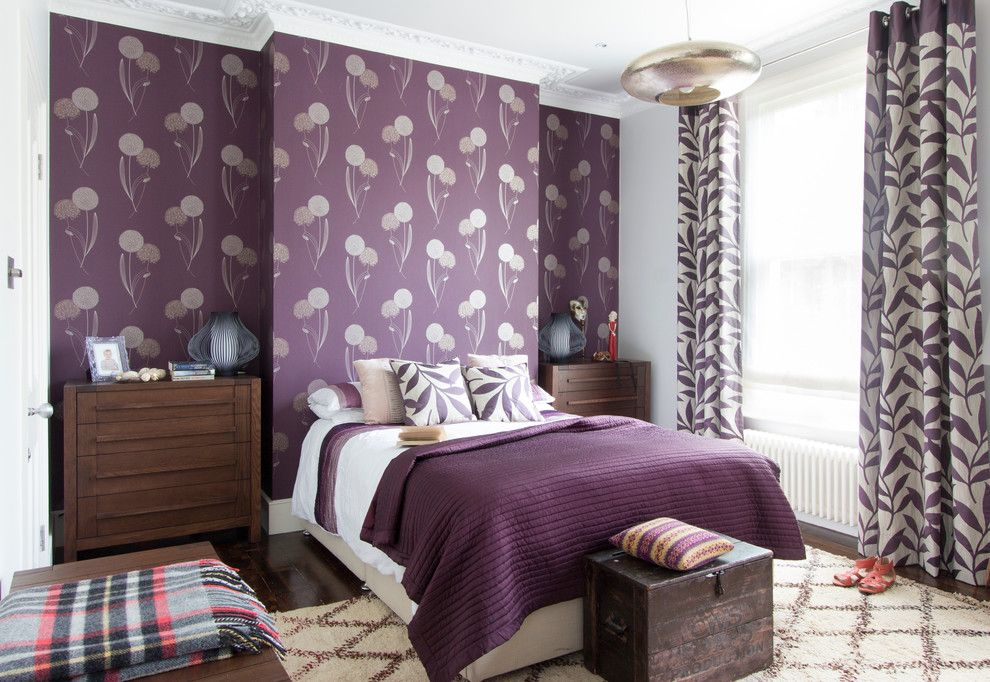 What is a Coverlet for a Transitional Bedroom with a Storage Chest and Crowland Terrace by Amberth