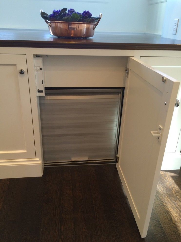 What is a Dumbwaiter for a Farmhouse Kitchen with a Laundry Chute and Residential Dumbwaiter Project by Nationwide Lifts of Mass