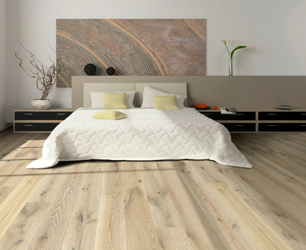 What is Engineered Hardwood for a Modern Bedroom with a Hardwood Flooring and Hallmark Floors Alta Vista Engineered Hardwood Floors. by Robinson Hardwood & Homes Llc