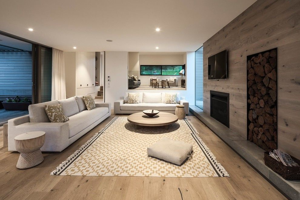 What is Engineered Hardwood for a Scandinavian Living Room with a Timber and Foam by Urban Angles