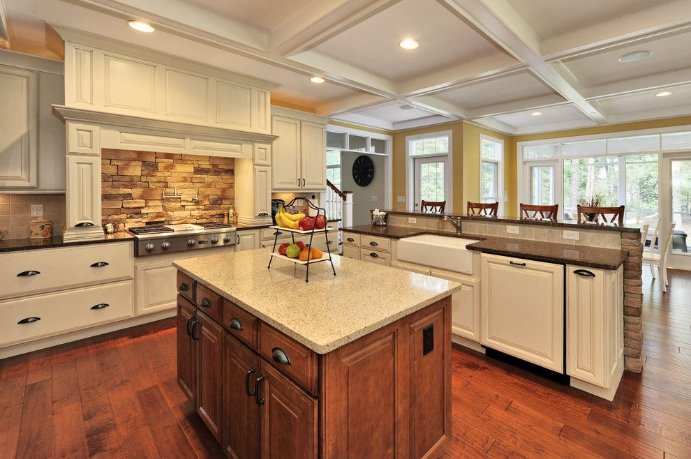 What is Silestone for a Traditional Kitchen with a Apron Sink and Kitchen by Echelon Custom Homes