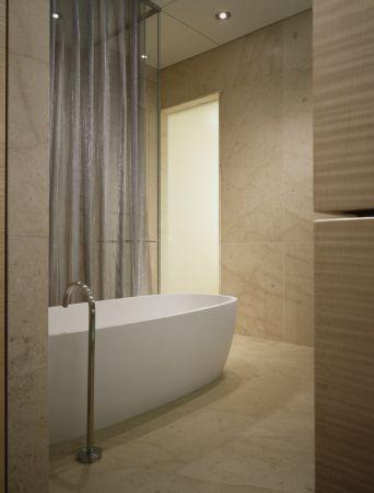 Wheeler Metals for a Contemporary Bathroom with a Metal Mesh and Contemporary Metal Mesh Drapery by Whiting & Davis