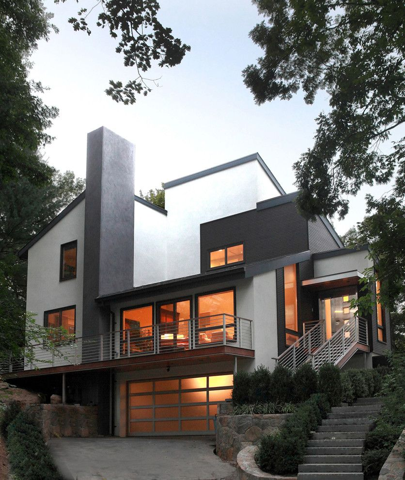 Wheeler Metals for a Contemporary Exterior with a Metal and Wheeler Residence by Saniee Architects, Llc
