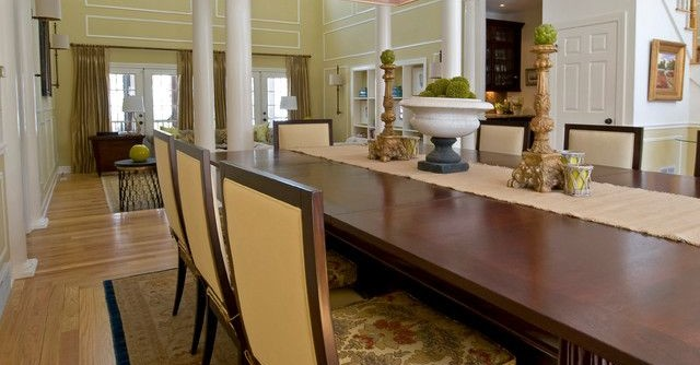 Wheeler Metals for a Transitional Kitchen with a Pool Table and Custom Designed Furniture by K.D. Ellis Interiors by K. D. Ellis Interiors