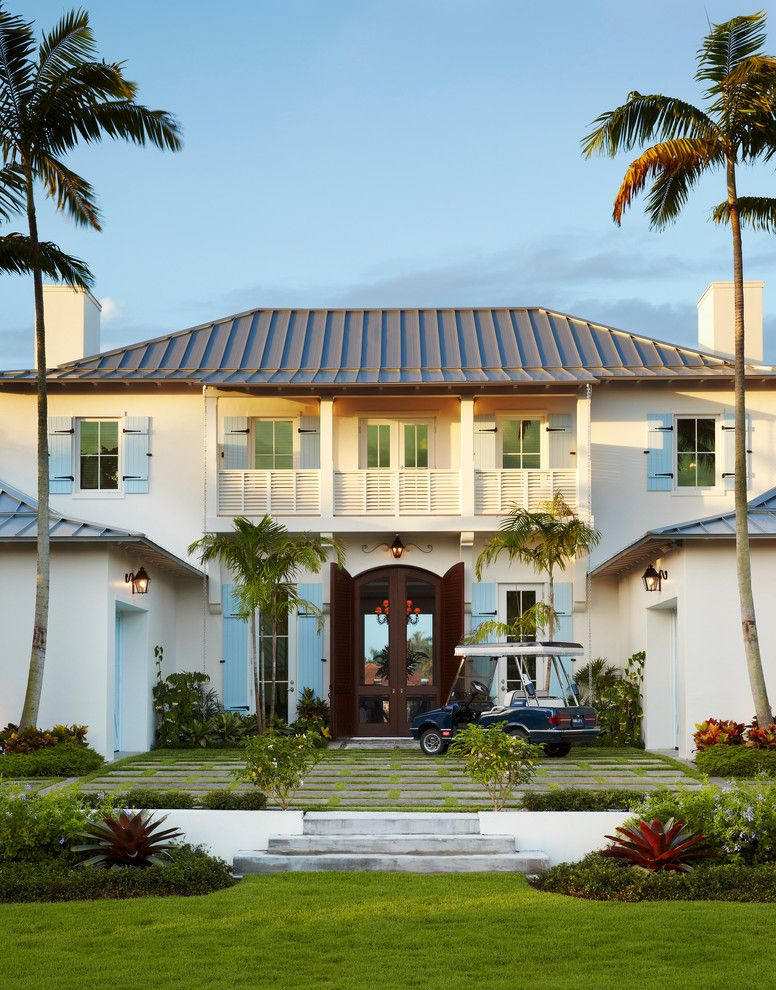 Wheeler Metals for a Tropical Exterior with a Double Doors and Dutch West Indies Estate by Affiniti Architects