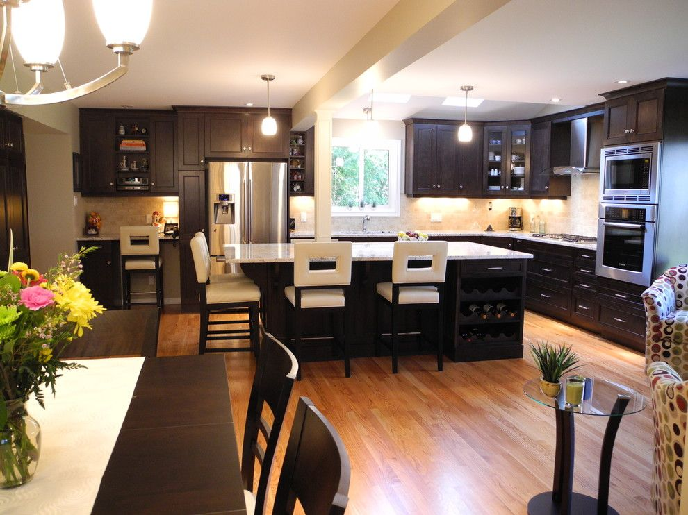 White Galaxy Granite for a Contemporary Kitchen with a Ottawa and Nathan Court Kitchen by Oakwood Renovation Experts