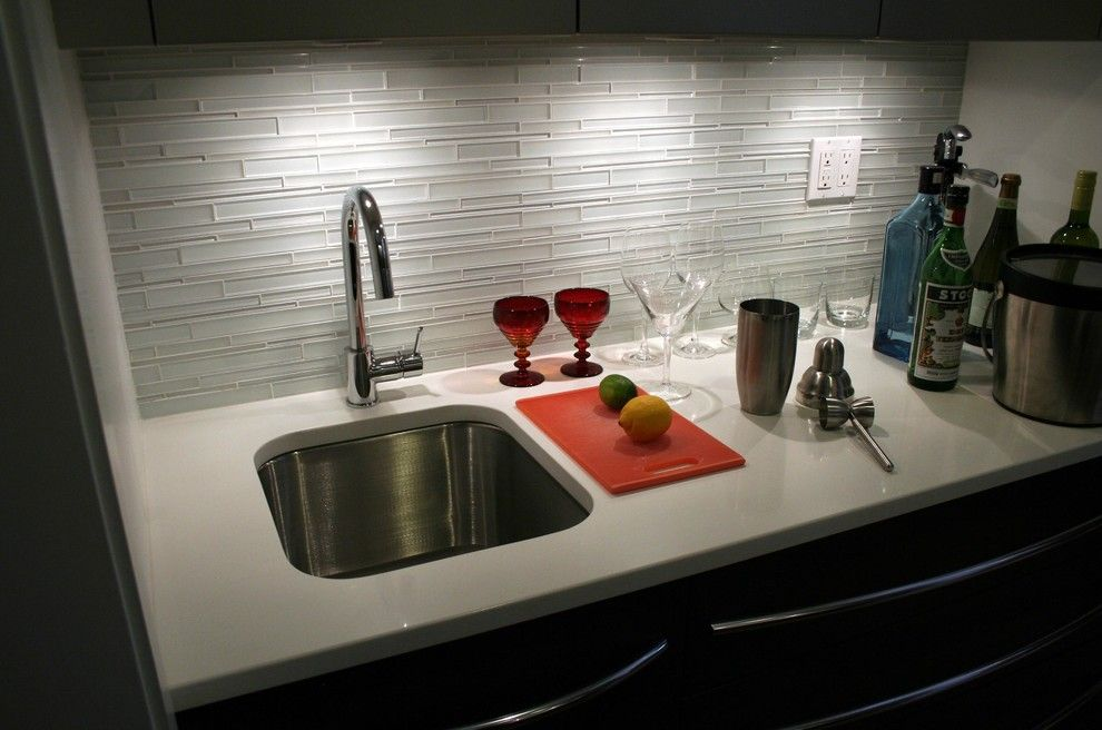 Whitehaus for a Contemporary Kitchen with a Brushed Stainless Steel and Contemporary in Connecticut by Whitehaus Collection
