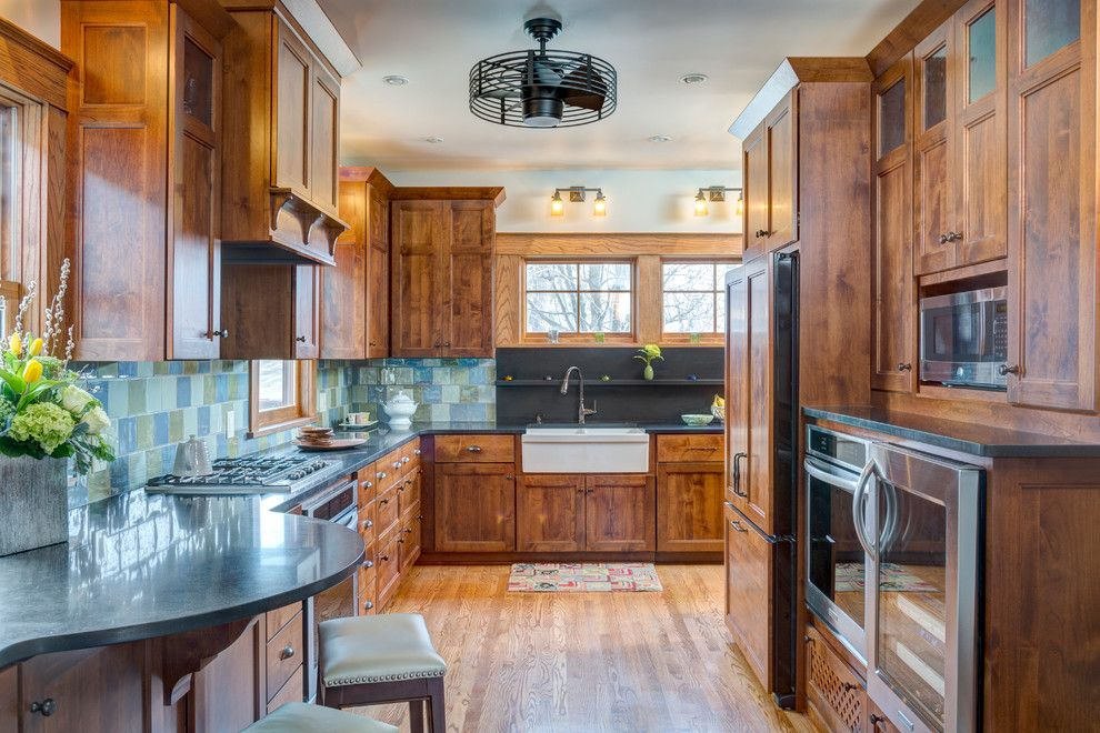 Whitehaus for a Craftsman Kitchen with a Farm Sink and Hyde Park Return to Prairie by Orion Design, Inc.