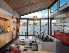 Whitehaus for a Industrial Living Room with a Clerestory Windows and Dyna - Portage Bay by Dyna Contracting