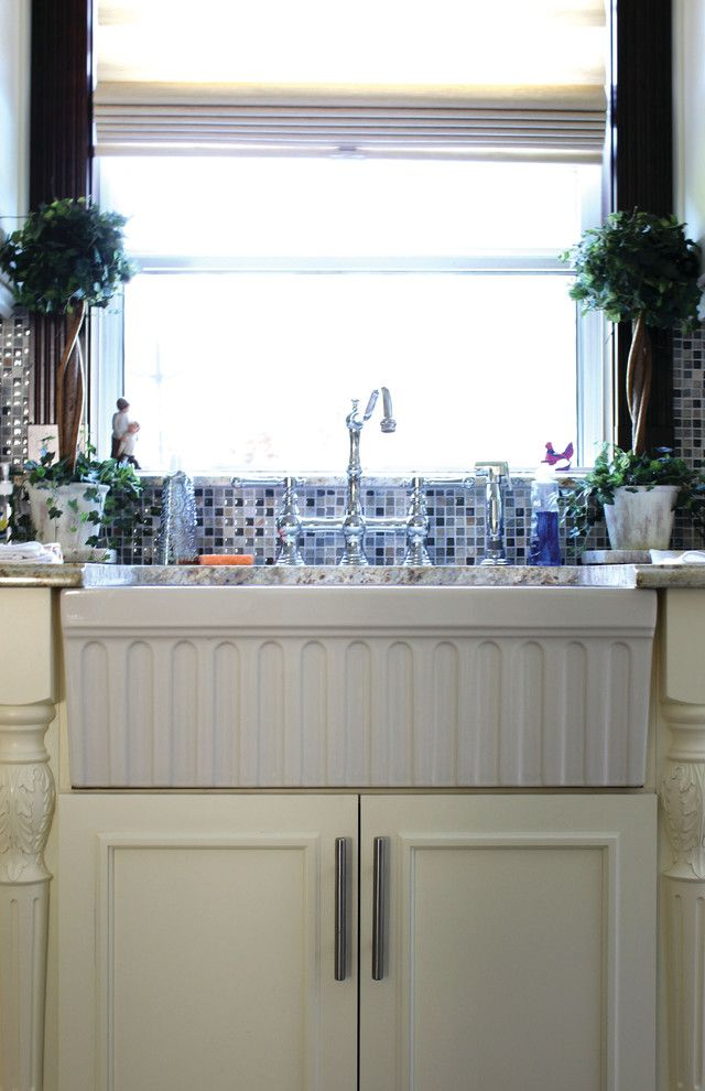 Whitehaus for a Traditional Kitchen with a Fireclay and Whitehaus Kitchen by Decor Island