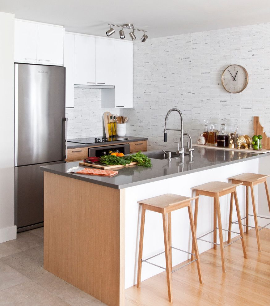 Whites Plumbing for a Contemporary Kitchen with a Gray Countertop and West 6th Avenue by Form Collective