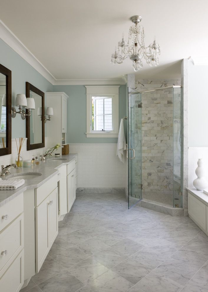 Whitfill Nursery for a Traditional Bathroom with a Double Sink and Bethesda by Liz Levin Interiors