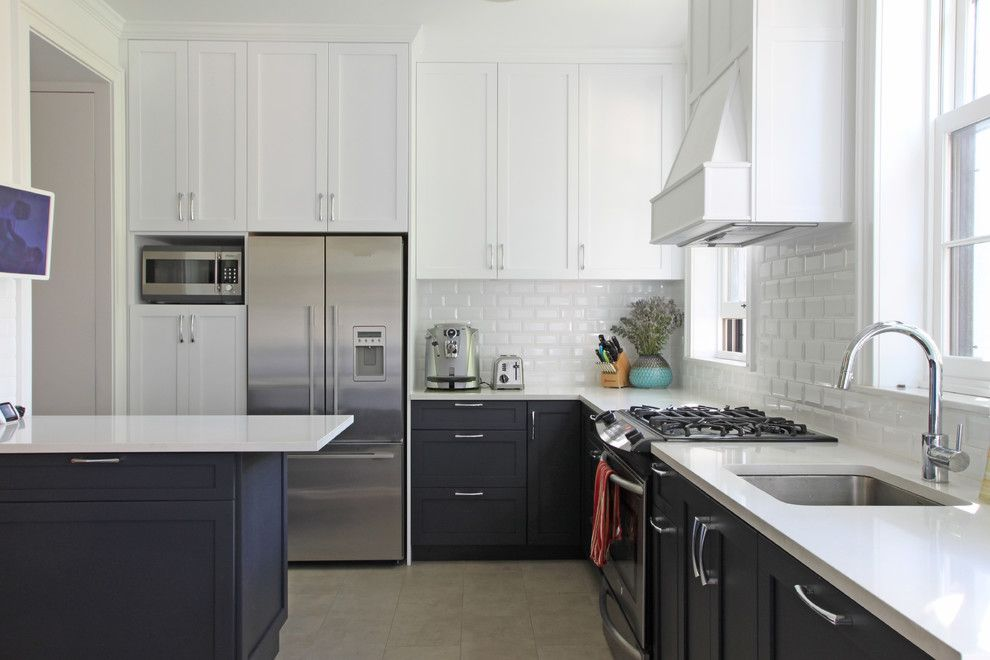 Whitfill Nursery for a Transitional Kitchen with a Carroll Gardens and Bergen Street Town House by Maletz Design