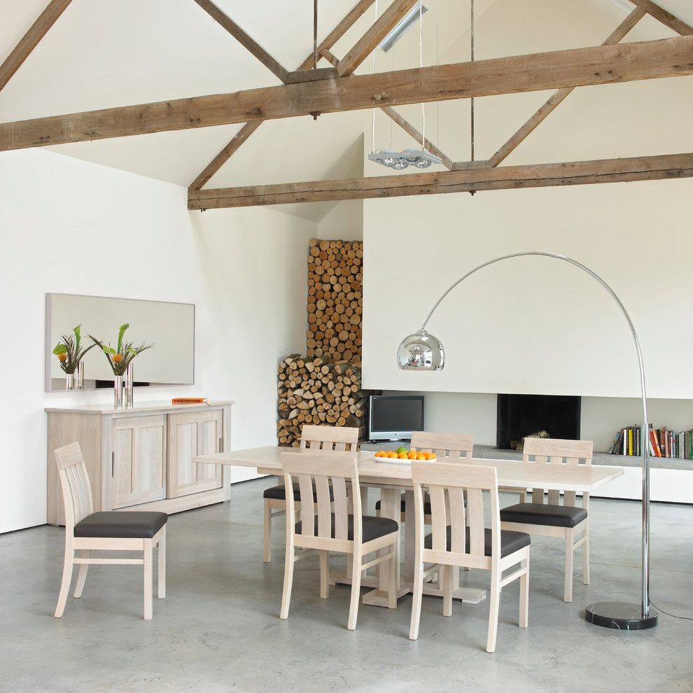 Wilcox Furniture for a Contemporary Dining Room with a Wooden Table and Quercus Solid Oak Dining by James Franklin Furniture (Made in England)