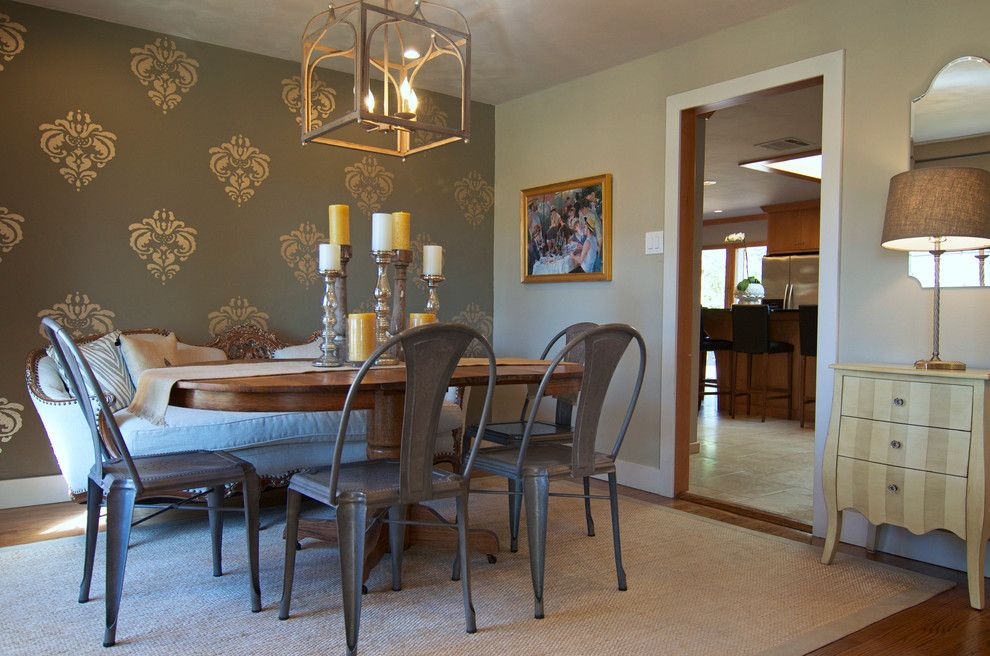 Wilcox Furniture for a Shabby Chic Style Dining Room with a Eclectic and Dallas, Tx: Jen & Reed Wilcox by Sarah Greenman