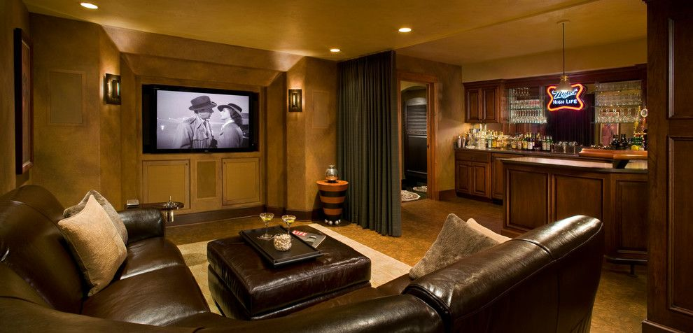Wilson Parker Homes for a Traditional Basement with a Pillows and Stonegate by Home Matters Llc
