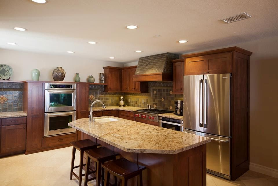 Windsor Plywood for a Contemporary Kitchen with a Brown Kitchen and Custom Cabinets and Countertops by Windsor Plywood