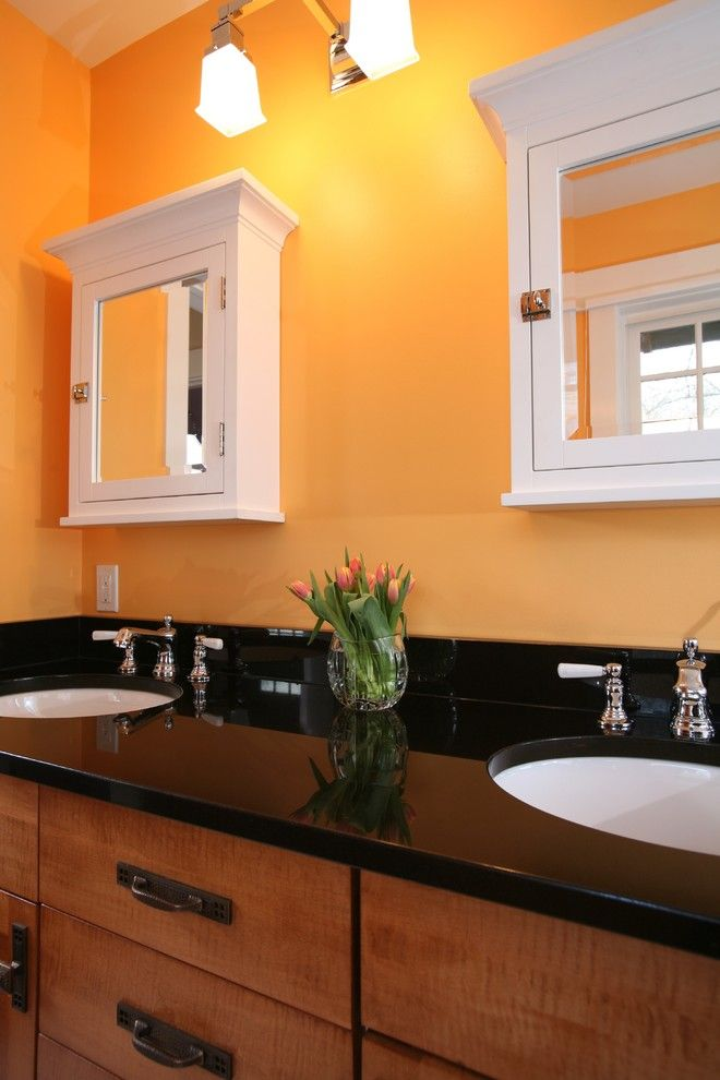 Wolf Classic Cabinets for a Traditional Bathroom with a Wall Sconce and 5126 Fairglen by Christian Gladu Design