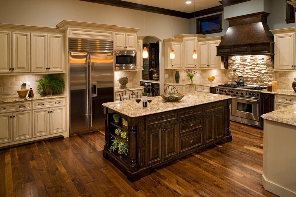 Wolf Classic Cabinets for a Traditional Kitchen with a Pendant Lighting and Oakley Home Builders by Oakley Home Builders