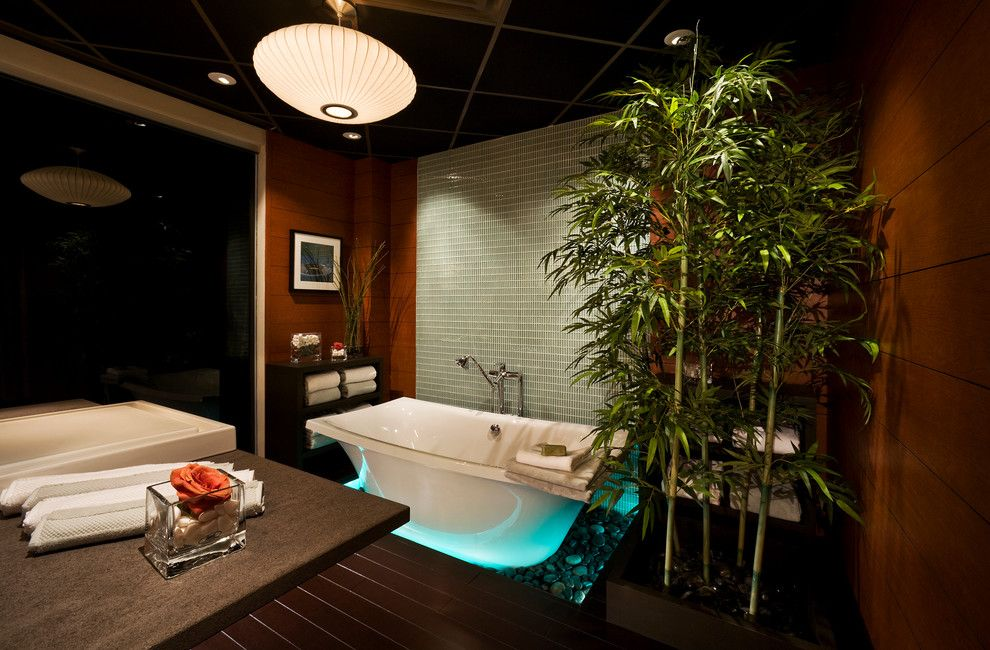 Wolfers Lighting for a Asian Bathroom with a Northern Virginia and Intuitive Lighting Control by Wi Home Integration