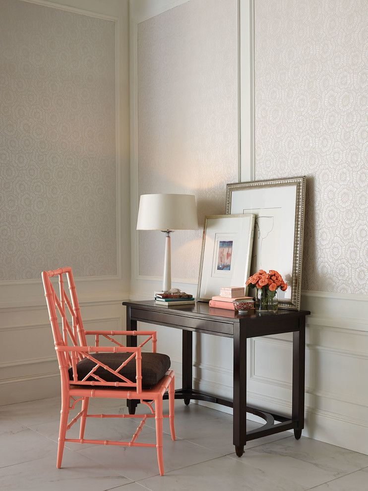 Woodbridge Furniture for a Traditional Bedroom with a Red Chair and Brighton Side Chair & Writing Desk by Woodbridge Furniture, Llc